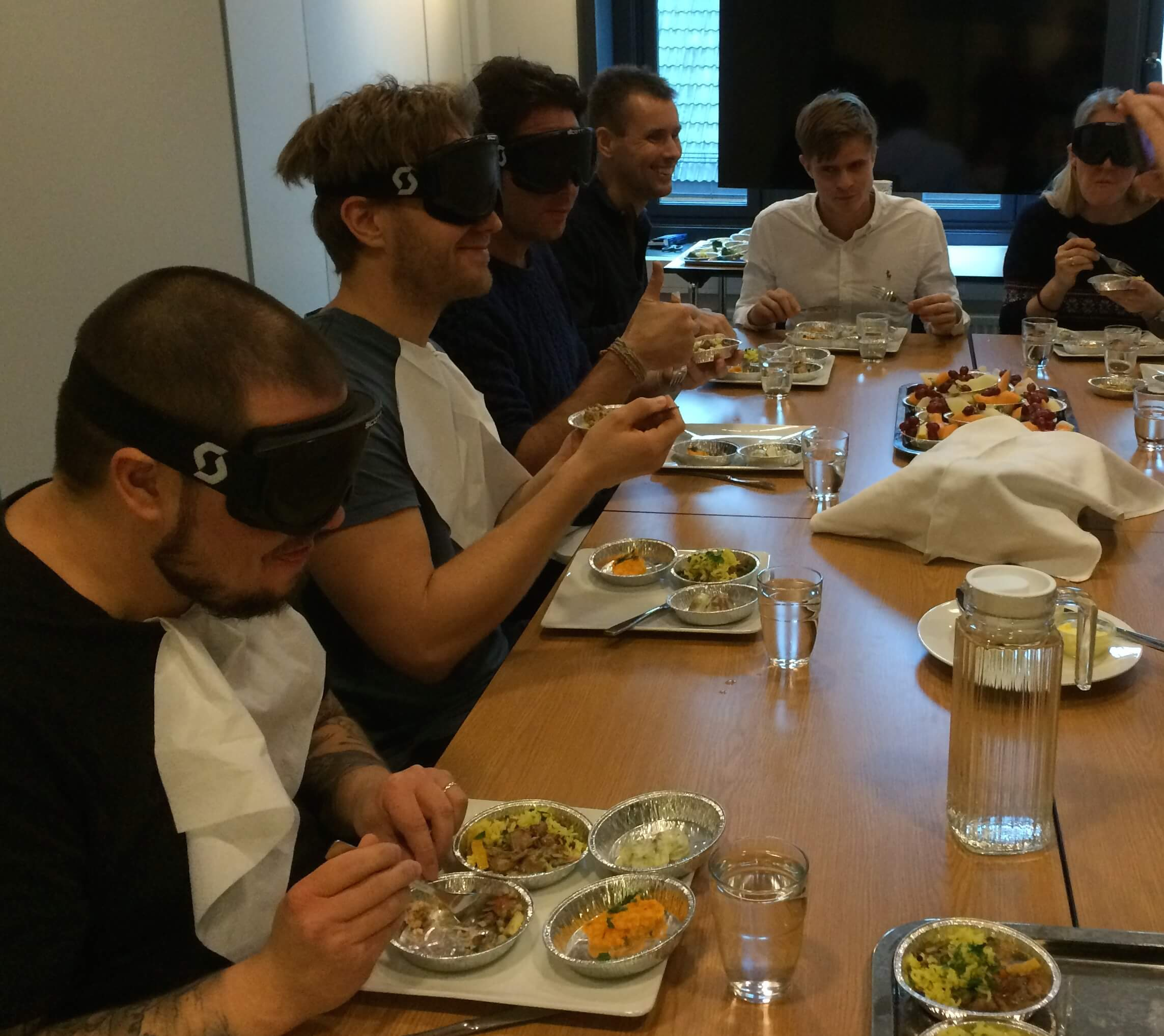 lunch-blindfolded