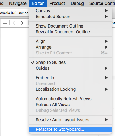 Refactor to storyboard